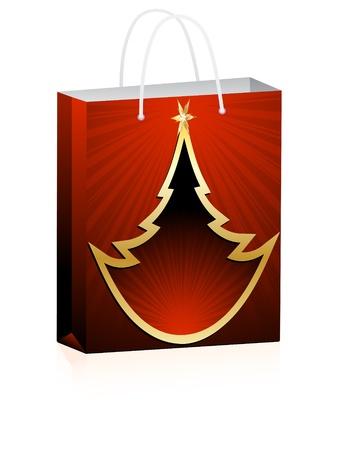 christmas shopping bag Vector