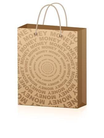 shopping bag for advertising  Vector