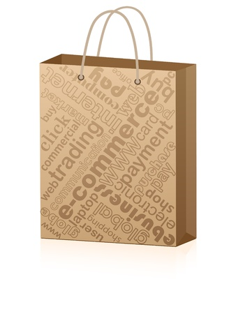 shopping bag for advertising  Stock Vector - 10288309