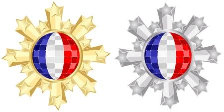 francais: france flag banner Illustration