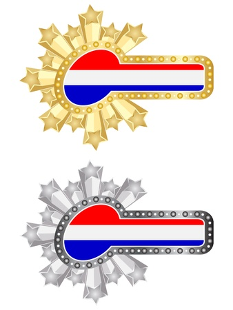 drapeau hollande: banni�re de drapeau hollande Illustration