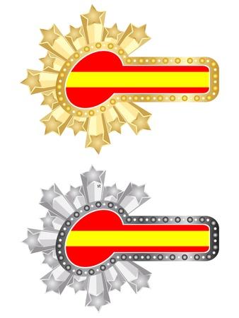 bandiera spagnola: spagnolo bandiera della bandierina