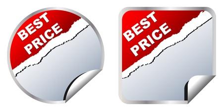 best price stickers Stock Vector - 10287562