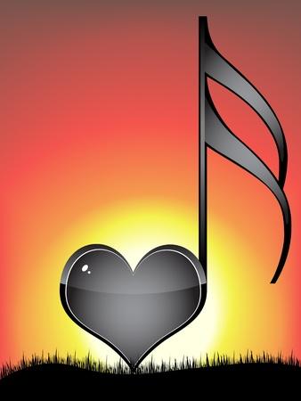 llave de sol: clave de amor musical