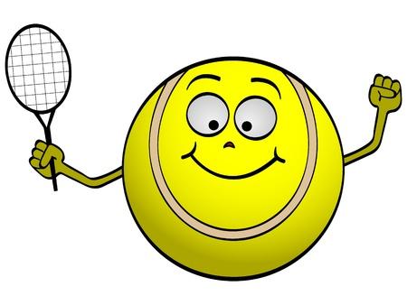 raqueta de tenis: pelota de tenis