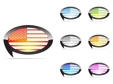 american tags Vector