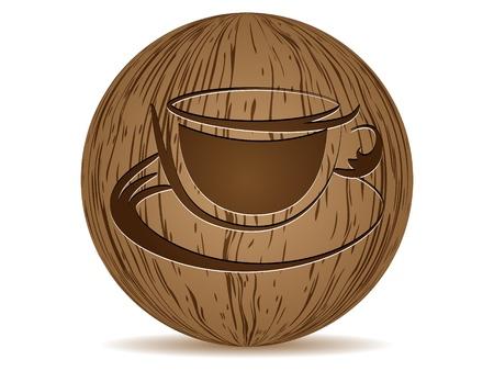 coffee cup button Stock Vector - 10288121