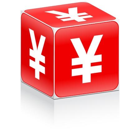 yen sign: caja con signo del yen en �l