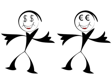 euro and dollar Stock Vector - 10450718