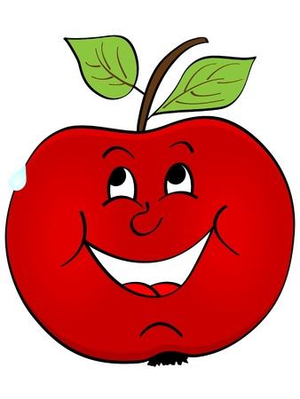 nice smile: red apple Illustration