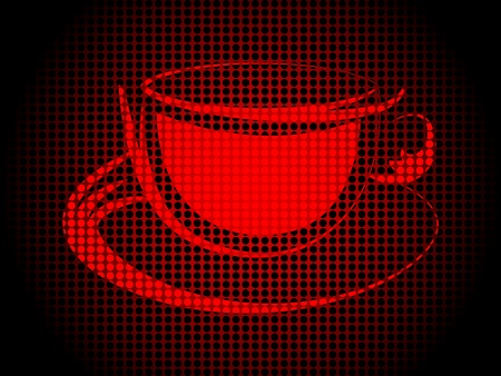 doted: coffee cup  Illustration