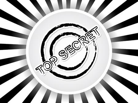 top secret banner Vector