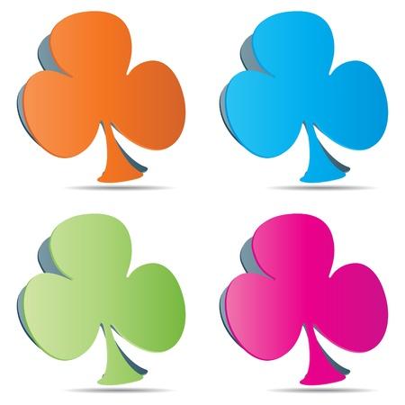 poker clover Stock Vector - 10451019