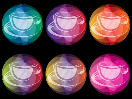 coffee cup buttons Stock Vector - 10451522