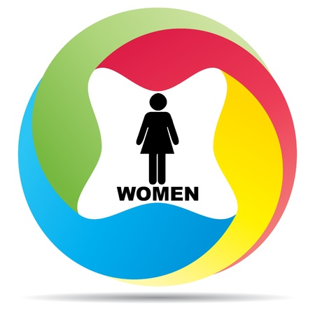 toilette: women toilet label  Illustration