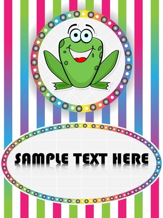 crazy frog: crazy frog  Illustration