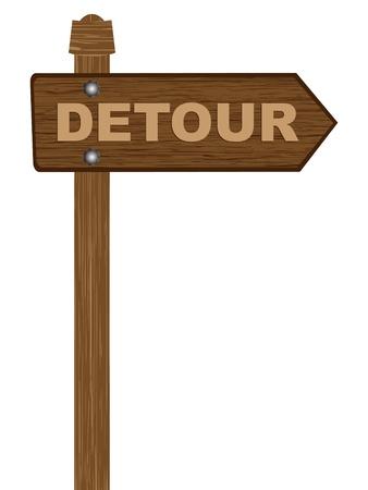 detour: detour sign