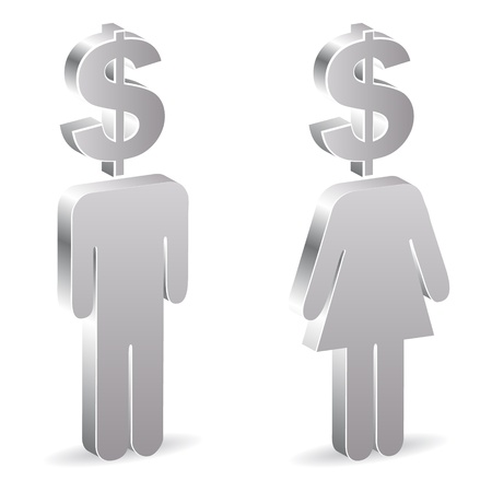 dealings: man and woman with dollar