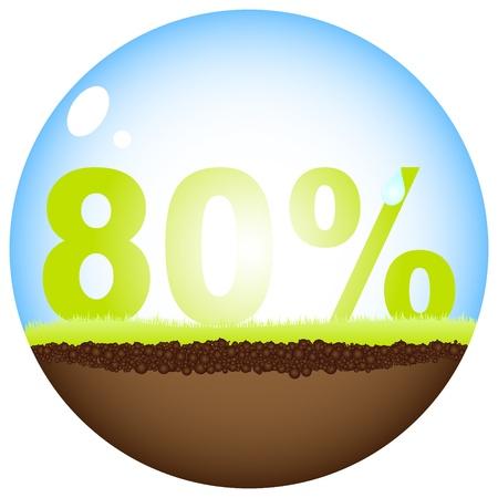 achtzig: achtzig Prozent Rabatt