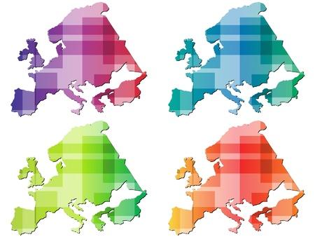 european map  Illustration