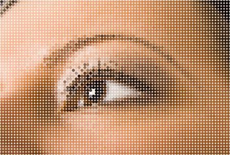 face close up: Beautiful woman eye