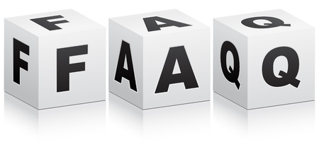 Frequently asked questions Stock Vector - 10450371