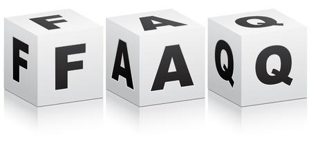 faq icon: Preguntas m�s frecuentes  Vectores