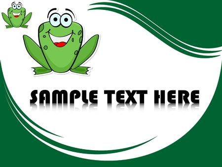 frog jump: crazy frog  Illustration