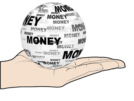 money ball Stock Vector - 10451197