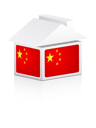 property of china: flag of china Illustration