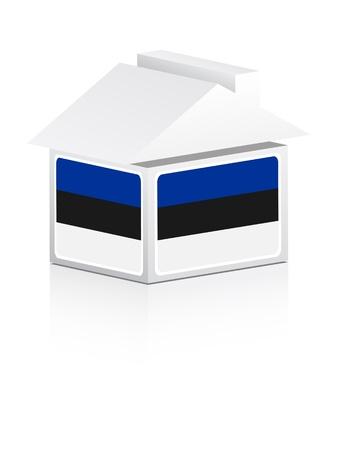 estonian: estonian house Illustration