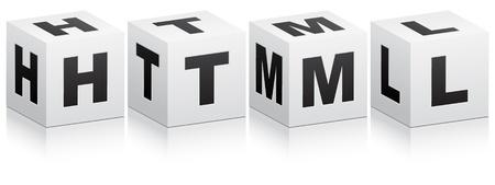 html code Stock Vector - 10450202