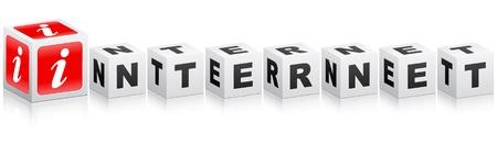internet word Stock Vector - 10450281
