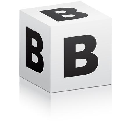 grammar: letter b Illustration