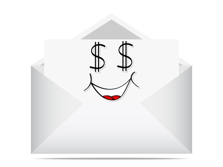 happy letter Stock Vector - 10450894
