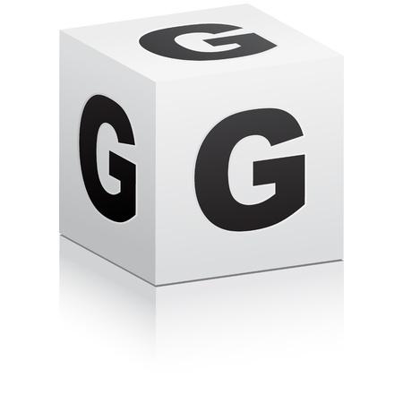 letter box: letter g Illustration