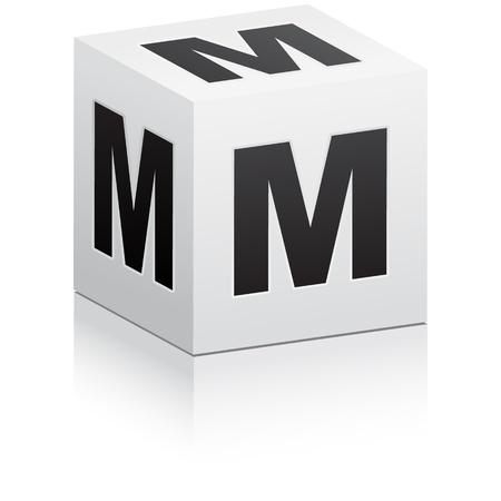 letra m: letra m Vectores