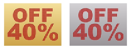 discount coupon: forty percent discount banner