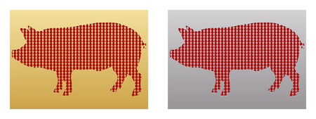 stamp with pig  Stock Vector - 10451108