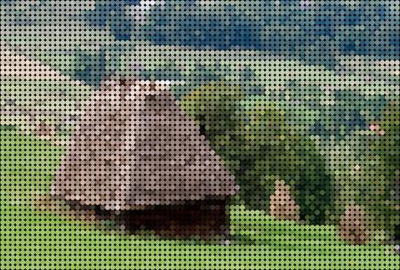 mountainous: Old Barn on the mountain