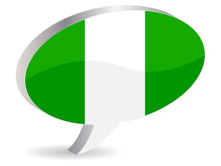 nigerian flag icon Vector