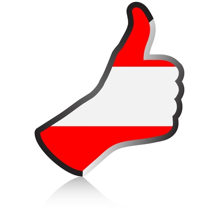 austrian: austrian hand giving ok  Illustration