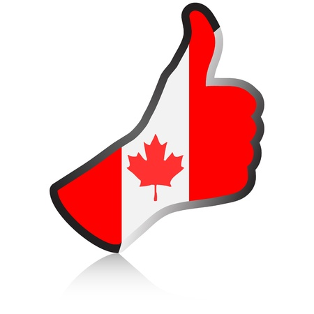 canadian hand giving ok  Vector