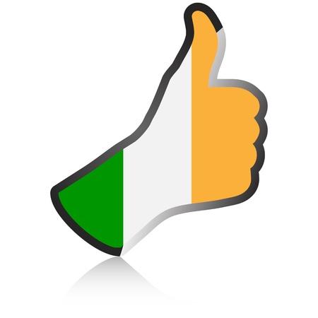 upbeat: irelanden hand giving ok