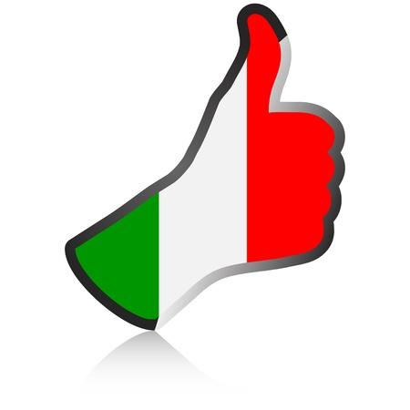 male's thumb: italian hand giving ok