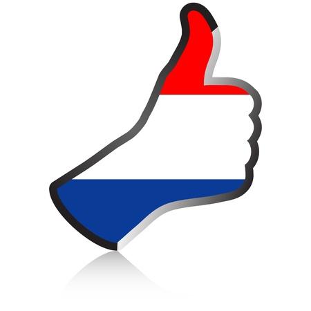 netherlands hand giving ok Stock Vector - 10450250