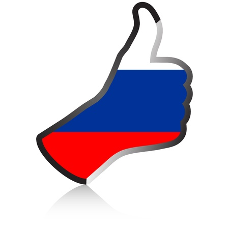 russian flag: russian hand giving ok