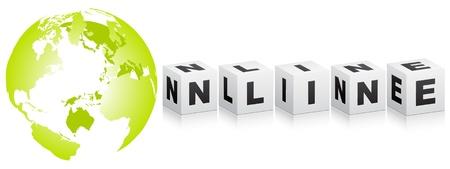 online word  Stock Vector - 10450580