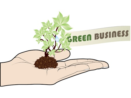 green business offer Stock Vector - 10451013