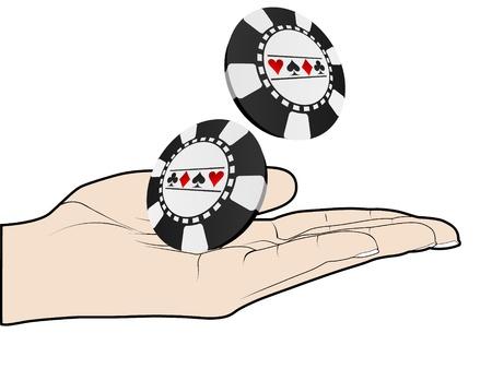 poker hand: poker hand Illustration